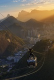 The Sugarloaf Mountain Cable Car at Sunset  Rio De Janeiro