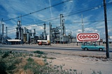 Conoco Petroleum Refinery from Amtrak Train  Usa  1979