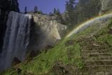 Rainbow over the Mist Trail  near Vernal Falls  Yosemite Np  AZ
