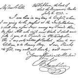 Facsimile of a Letter from Benjamin Franklin to His Wife  1773 (C1880)