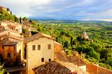 Tuscan Town at Sunset