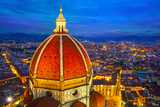 View of the Cathedral Santa Maria Del Fiore at Dusk Florence  Italy