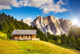 Great View on the Pizes De Cir Ridge  Valley Gardena National Park Dolomites  South Tyrol Locatio
