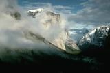 Storm Clearing around Yosemite's El Capitan Peak
