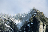 Snow-Covered Mountain near Yosemite Valley