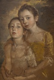 Portrait of Thomas Gainsborough's Daughters with a Cat The National Gallery Trafalgar Square