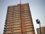 Tower Block Covered in Scaffolding