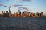 Panoramic View of New York City Skyline on Water Featuring One World Trade Center (1Wtc)  Freedom T