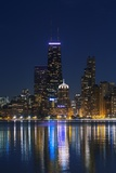 The Chicago Skyline over Lake Michigan at Dusk