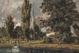 Painting Titled Salisbury Cathedral and Leadenhall from the R The National Gallery Trafalgar Square