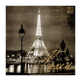 Paris At Night In Sepia