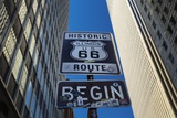 Road Sign at the Start of Route 66  Chicago  Illinois
