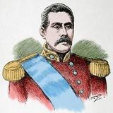 Susuga Malietoa Laupepa (1841-1898) Ruler of Samoa Engraving Colored