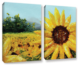 Warmth Of The Sun  2 Piece Gallery-Wrapped Canvas Set
