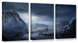 Winter  3 Piece Gallery-Wrapped Canvas Set