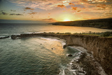 Sunset ay Sweetheat Rock  Lanai  Hawaii