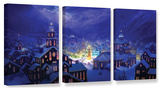 Christmas Town  3 Piece Gallery-Wrapped Canvas Set