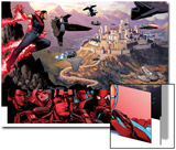 Avengers: The Childrens Crusade No4: Panels with Wonder Man Flying