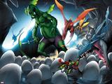Avengers vs Pet Avengers No4: Fin Fang Foom and Throg Saving Eggs