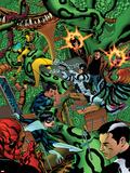 Avengers Academy No10 Cover: Dr Strange  Protector  Reptil  Hazmat  Finesse  Striker  and Mettle