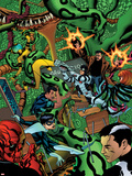Avengers Academy No10 Cover: Dr Strange  Protector  Reptil  Hazmat  Finesse  Striker  and Mettle