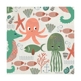 Under the Sea Pattern Reproduction d'art par Katie Doucette