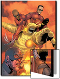 Ultimates Annual No1 Group: Goliath  Hawkeye  Wasp  Captain America and Ultimates Charging