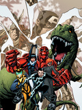 Avengers Academy No12 Cover: Striker  Veil  Hazmat  Finesse  Mettle  and Reptil