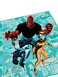 Avengers Academy No3 Cover: Finesse  Mettle  and Hazmat