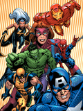 Marvel Two-In-One No14 Cover: Avengers and X-Men