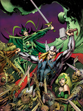 Avengers Prime No3 Cover: Thor  Enchantress  and Hela Fighting