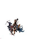 Dark Avengers No12 Cover: Wolverine  Iron Patriot  Sentry  Spider-Man  Hawkeye  Ms Marvel & Ares