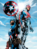 The Ultimates No4 Cover: Captain America and Captain Britain Charging