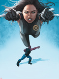 Avengers Academy No23 Cover: X-23 Flying and Mettle Outstretched