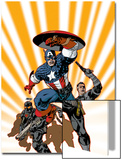 Marvel Knights Captain America No24 Cover: Captain America and Nick Fury