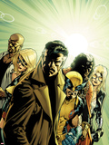 New Avengers No6 Cover: Dr Strange  Wolverine  Ms Marvel  Luke Cage  Doctor Voodoo & Mockingbird