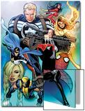 I Am An Avenger No2 Cover: Steve Rogers  Wolverine  Black Widow  Justice  Firestar  & Spider Woman
