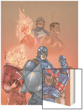 The New Invaders No1 Cover: Captain America  Union Jack  Blazing Skull and Invaders