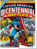 Captain America Bicentennial Battles Cover: Captain America Charging