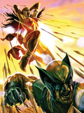 Dark Reign: Elektra No4 Cover: Elektra and Wolverine