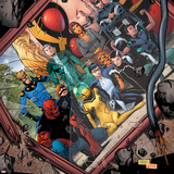 Avengers Academy No20 Cover: Mettle  Hazmat  Finesse  Striker  Quicksilver  Tigra  Wasp and Others