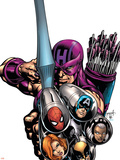 Marvel Adventures Avengers No16 Cover: Hawkeye
