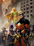 Chaos War: Dead Avengers No1 Cover: Captain Marvel  Yellowjacket  Swordman  Vision and Others