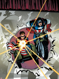 Captain America and Bucky No621 Cover: Riding a Motorcycle and Sidecar