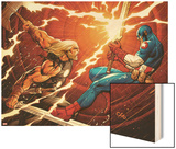 Ultimate New Ultimates No4: Thor and Captain America Fighting