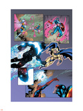 New Thunderbolts No14 Group: Photon  Sentry  Captain America and Songbird