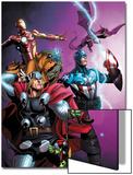 Avengers vs Pet Avengers No1 Cover: Thor  Captain America  Iron Man  Throg  Lockjaw  and Lockheed