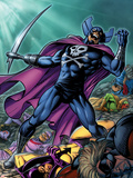 Chaos War: Dead Avengers No2 Cover: Grim Reaper Screaming