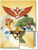 I Am an Avenger No3 Cover: Stingray  Firestar  Hulk  Nova  and Justice