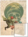 Captain America: The 1940s Newspaper Strip No3 Cover: Red Skull Fighting Captain America